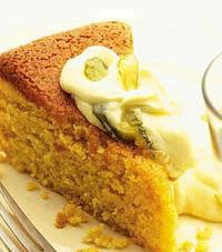 Orange & Almond cake with Citus Mascarpone