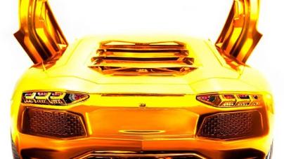 Gold Lamborghini Aventador: world most expensive model car