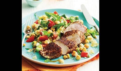 Grilled Chicken with Fresh Summer Salad