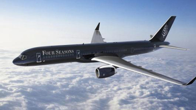 Book a room at the Four Seasons' private jet