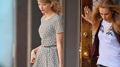 Taylor Swift and Cara Delevingne Display Strikingly Styles