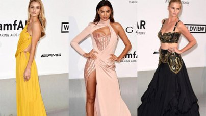 Leading the Leggy Beauties Rosie Huntington-Whitely, Lara Stone and Irina Shayk at 2014 amfAR Gala