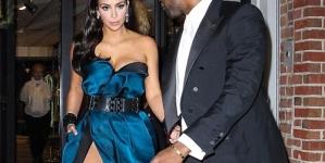 Kim Kardashian Stuns In High-Slit Gown At 2014 Met Ball