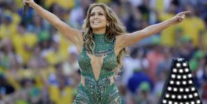 Jennifer Lopez Looks Incredible Kicks World Cup Brazil Performing Stage Pitbull