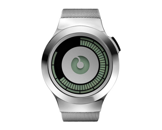 Futuristic ZIIIRO Saturn Silver Wrist Watch