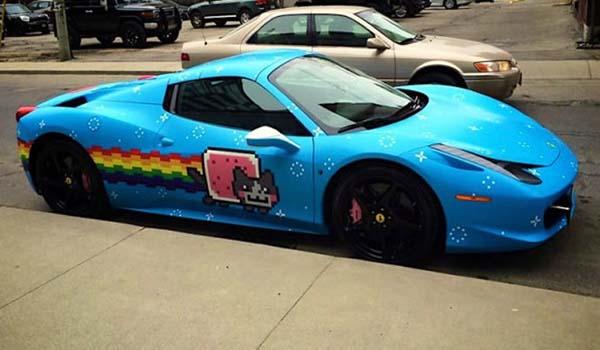 Deadmau5 Selling his Nyan Cat Ferrari On Craigslist