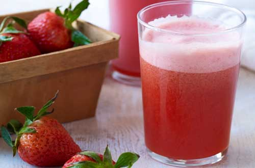 Strawberry and Vanilla Juice