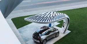 Stylish Solar Charging Station for BMW i3 & i8