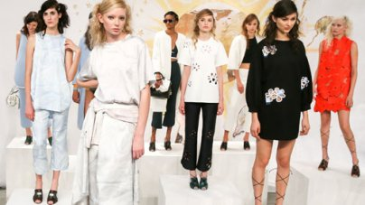 Celebrities at Cynthia Rowley Spring 2015 Presentation