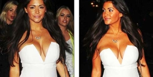 Casey Batchelor puts her reduced cleavage on display