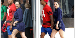 Kelly Brook enjoys a kiss with fiance David McIntosh