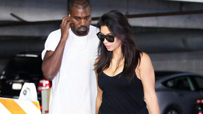 Fitness Conscious Kim Kardashian at Hollywood Gym