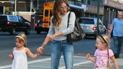 Sarah Jessica Parker's Twins' Back-to-School Look