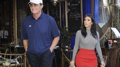 Bruce Jenner on a shopping trip with Kim Kardashian