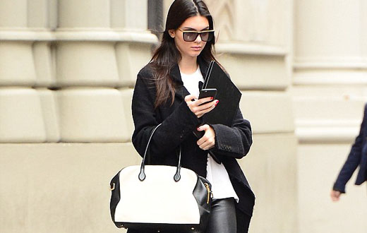 Kendall Jenner looks leggy in leather Pants