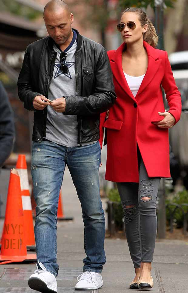 Derek Jeter with girlfriend Hannah Davis in New York City