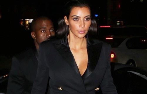 Kim Kardashian showing her cleavage on date night in NYC