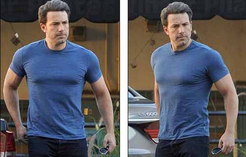Ben Affleck showed off the buff body building for Batman