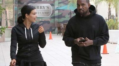 Kim Kardashian and Kanye West Together at Gym