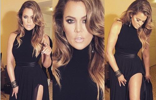Khloe Kardashian at Golden Globes after party