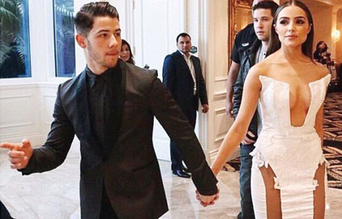 Nick Jonas' girlfriend Olivia Culpo in Miss Universe Pageant