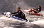 water go-kart driving