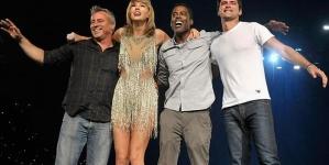 Matt LeBlanc and Chris Rock join Taylor Swift on stage in LA
