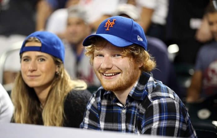 Ed Sheeran Enjoys Date Night with School Friend