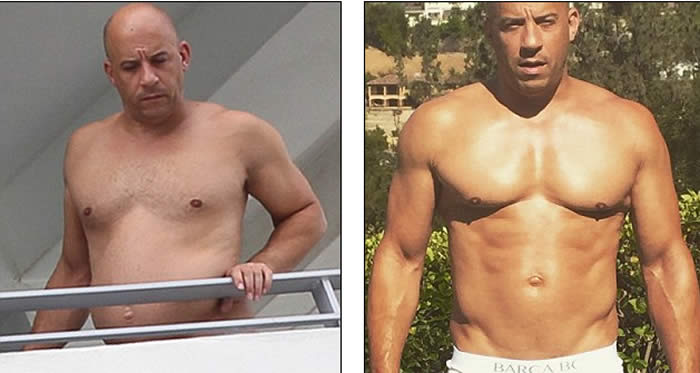 Vin Diesel Showcases Softer Figure While Lounging Shirtless in Miami