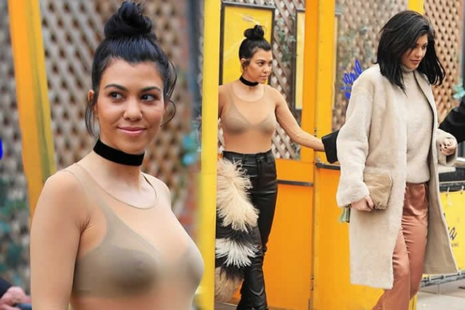 Kourtney Kardashian and Kylie Jenner in Rare fashion fail as they step out in New York