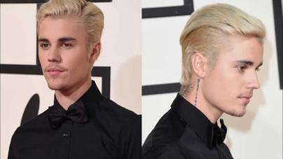 Justin Bieber's Sleek Combover GRAMMY's Look