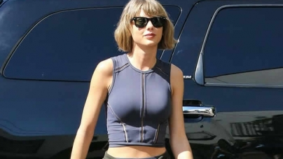 Taylor Swift's Monochrome Athleisure Style, Found: Shop Her Crop Top, Leggings