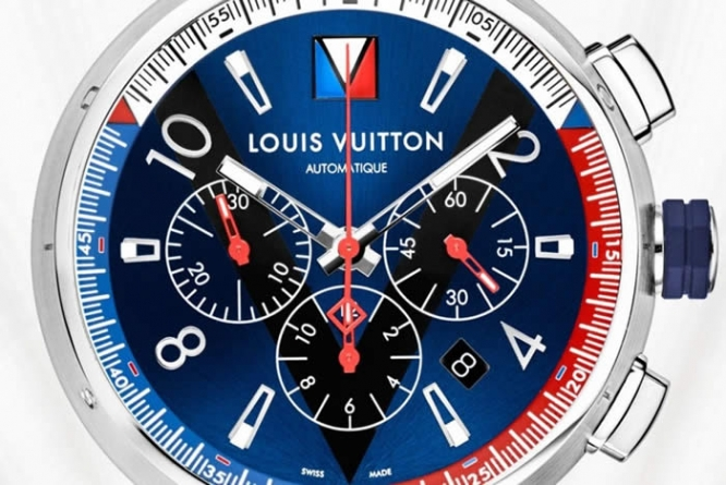 Louis Vuitton Tambour Blue Chronograph