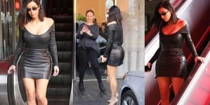 Kim Kardashian Suffers Fake Tan Disaster in Sexy Outfit
