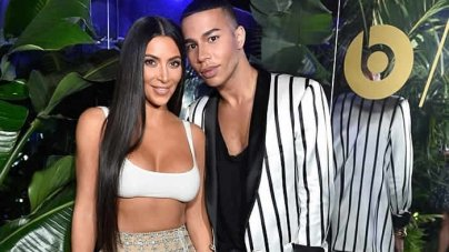 Kim Kardashian Gets Her Crop Top Blow Dried