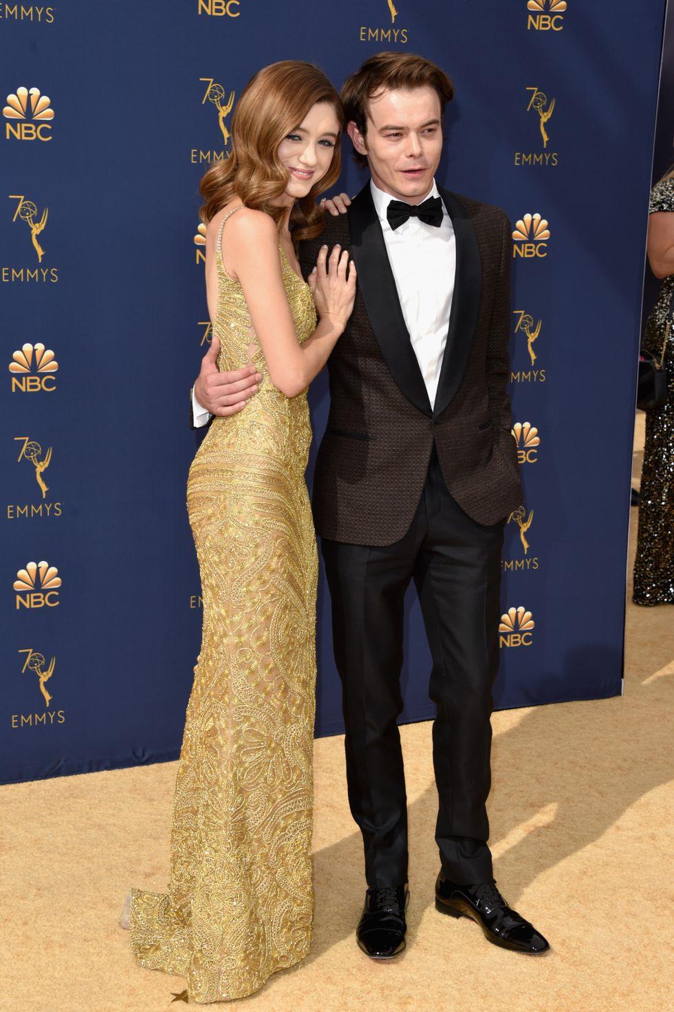 Natalia Dyer and Charlie Heaton