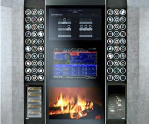 Watch Winder Cabinet with Built-in Tv And Fireplace