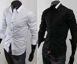 Contrast-Collar Shirts In Men