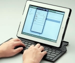 Ipad Case unfolds to Provide a Full Sized Bluetooth Keyboard