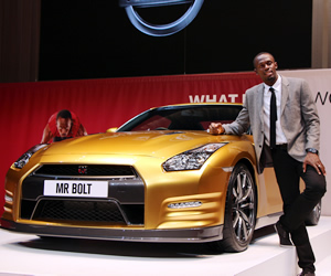 Nissan Bolt Gold Gt r for Charity