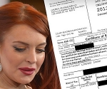 Lindsay Lohan Proof Im Paying Taxes