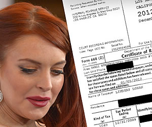 Lindsay Lohan Proof Im Paying Taxes