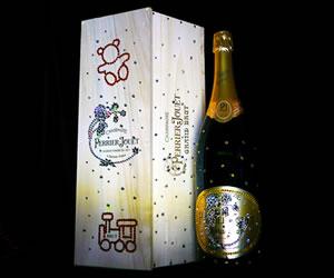 Swarovski-studded Perrier-Jouët Bottle designed by Cimon Art to benefit the HHF