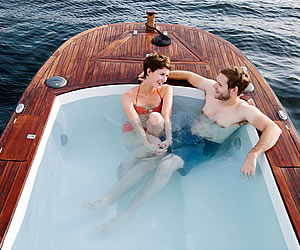 Boat boasts Hot Tub