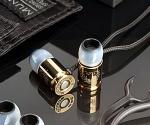 Ear Headphones Shaped Like-Bullets with Gold Titanium Coated
