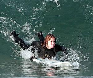 Jennifer Lawrence Surfing