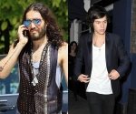 Russell Brand and Harry Styles