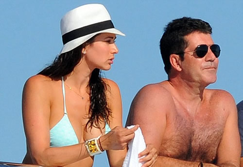 Simon Cowell with Lauren Silverman