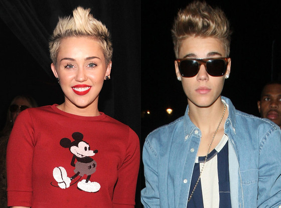 JB supports Miley Cyrus