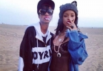 Rihanna with his friend